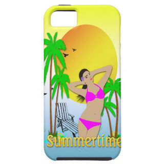 Summertime - Girl 4G Case-Mate Tough™ Case iPhone 5 Case
