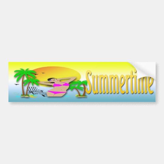 Summertime - Girl Bumper Sticker