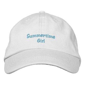 Summertime Girl Cap embroideredhat
