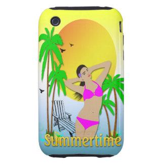 Summertime - Girl iPhone 3g Case-Mate Tough Case Tough iPhone 3 Cases
