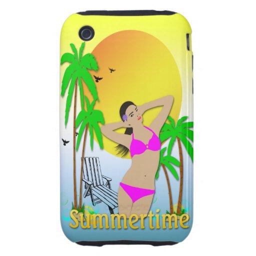 Summertime - Girl iPhone 3g Case-Mate Tough Case