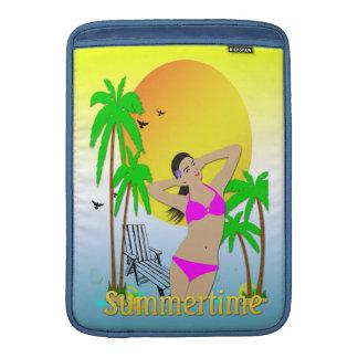 Summertime - Girl Macbook Air Rickshaw Sleeve MacBook Sleeve