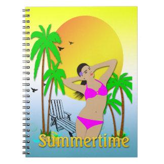 Summertime - Girl Notebook