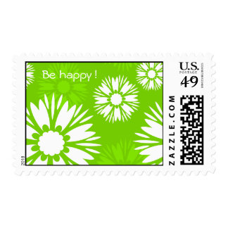 "Summertime Green ""Be Happy""  postage"