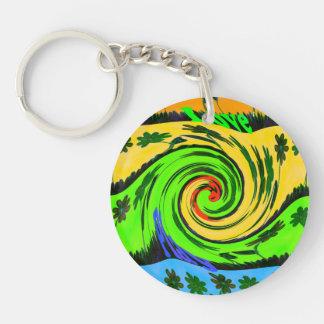 Summertime Hakuna Matata Waves Key chain