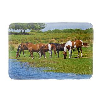 Summertime Horses Bath Mat