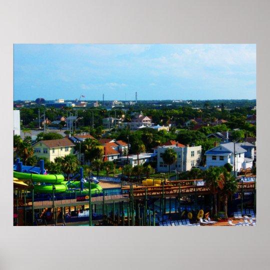 Summertime In Tropical Daytona Beach Florida Poster