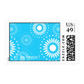 "Summertime Light Blue ""Be Happy""  postage"