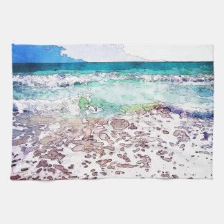 Summertime Ocean Waves Kitchen Towel