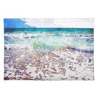 Summertime Ocean Waves Placemat