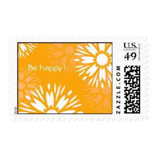 "Summertime Orange ""Be Happy""  postage"