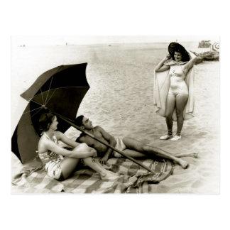 Summertime Oregon Beach - Vintage Photo Postcard