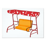 """Summertime Patio Glider Seating 5"""" X 7"""" Invitation Card"""