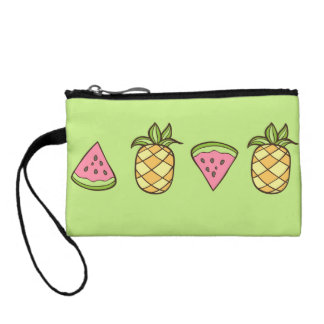 Summertime Pineapple Fruits Change Purse