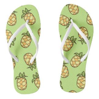 Summertime Pineapple Fruits Flip Flops