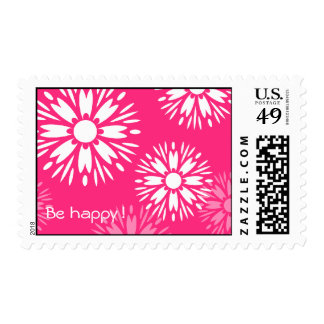"Summertime Pink ""Be Happy""  postage"