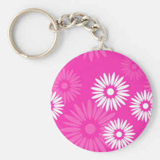Summertime pink flowers Keychain