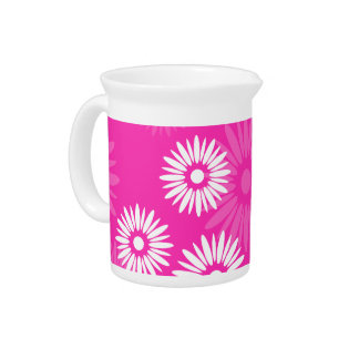 Summertime pink flowers Pitcher