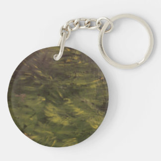 Summertime Places Double-Sided Round Acrylic Keychain