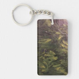 Summertime Places Single-Sided Rectangular Acrylic Keychain