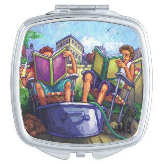 Summertime Reading Vanity Mirror