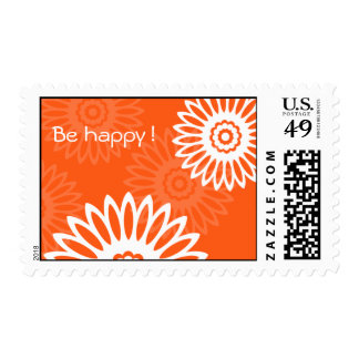 "Summertime Red ""Be Happy""  postage"