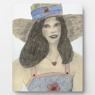 Summertime Retro Girl Plaque