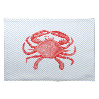 Summertime Seafood Crab Picnic Cloth Placemat