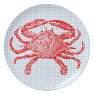 Summertime Seafood Crab Picnic Dinner Plate