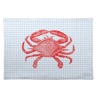 Summertime Seafood Crab Picnic Placemat