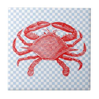 Summertime Seafood Crab Picnic Tile