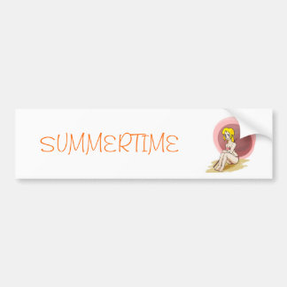 Summertime sticker car bumper sticker