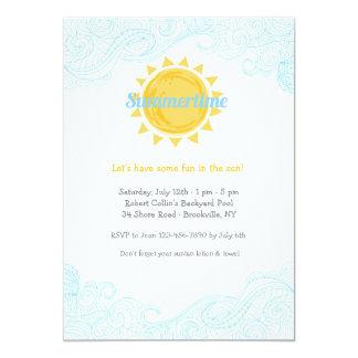 Summertime Sun Invitation