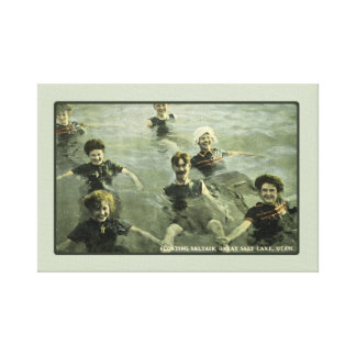 Summertime Swimmers & Old-Fashioned Swimming Hole Canvas Print