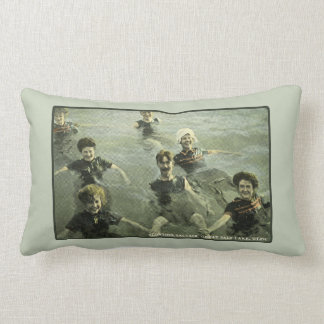Summertime Swimmers & Old-Fashioned Swimming Hole Lumbar Pillow