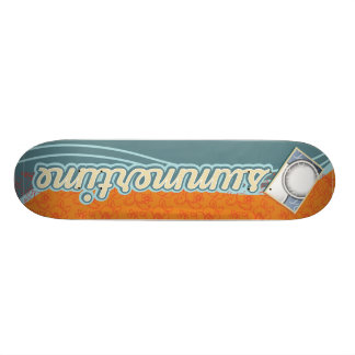 summertime template skateboard deck