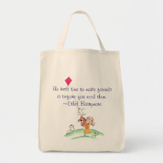 Summertime The best time to make friends is... Canvas Bags