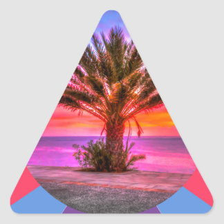 summertime triangle sticker