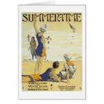 Summertime Vintage Songbook Cover Card