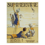 Summertime Vintage Songbook Cover Poster