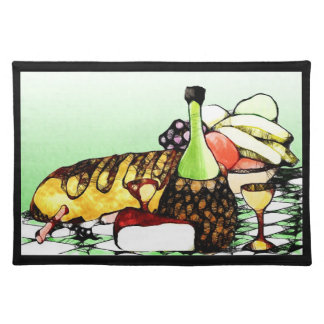 Summertime w/border cloth placemat