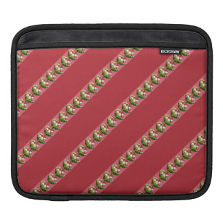 Summertime Watermelon Fruit Bowl Stripes Pattern Sleeves For iPads