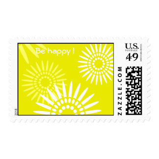 "Summertime Yellow ""Be Happy""  postage"