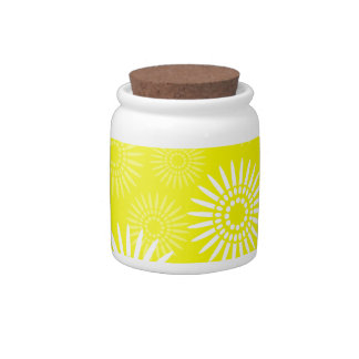 Summertime Yellow Candy Jar