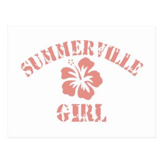Summerville Pink Girl Postcard