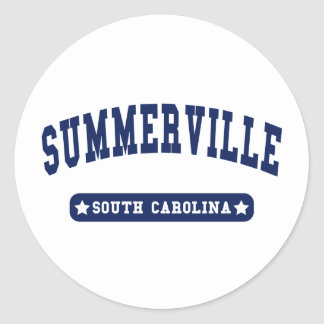 Summerville South Carolina College Style tee shirt Classic Round Sticker