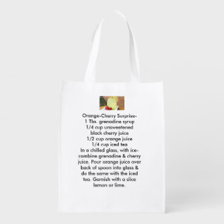 Summery Citrus Weight loss reusable tote bags Reusable Grocery Bag