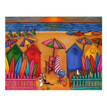 Beach Themed Summery Delight by Lisa Lorenz Postcard