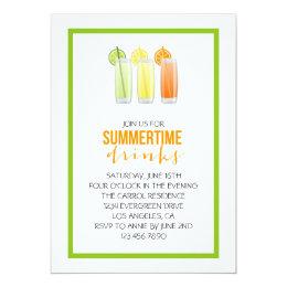 Summery Drinks Party Invitation