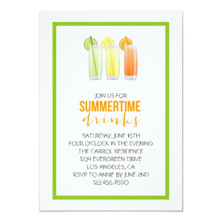 Summery Drinks Party Invitation